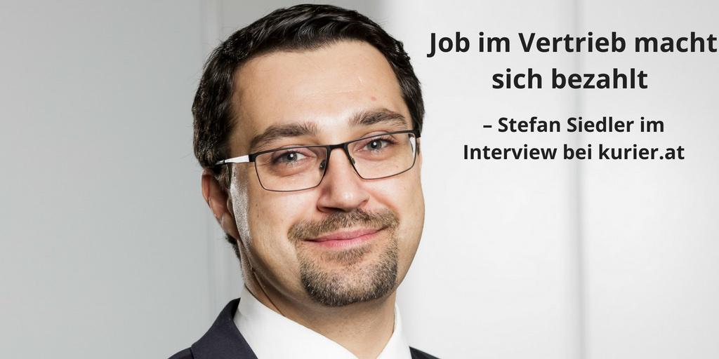 Job im Vertrieb macht sich bezahlt, Stefan Siedler im Kurier.at Artikelbild-pub 3